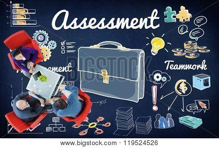 Assessment Evaluation Review Examination Concept