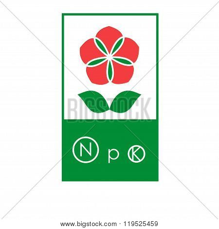 Flower Fertilizer Label Concept