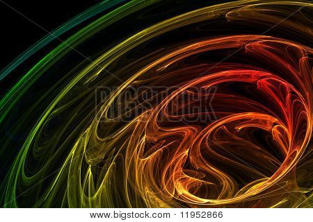 Brightly colored abstract background poster