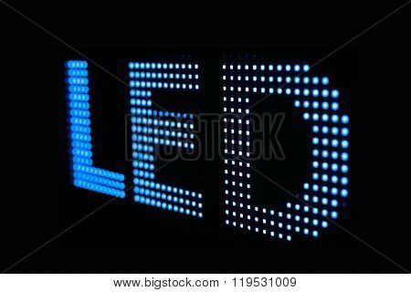 Blue Led Sign At The Led Smd Screen