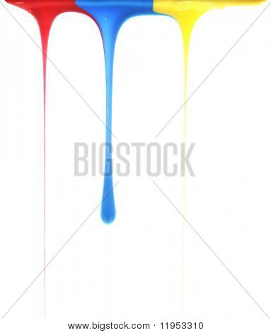 Pouring primary colors