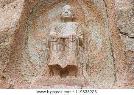 Buddhist saint statuary of Sakonnakhon province in Thailand