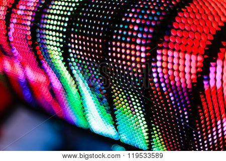 Bright Colored Curved Led Screen