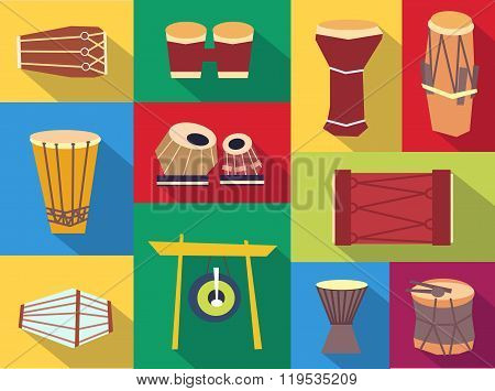 Vector Ethnic Drums