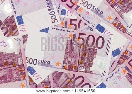 Money Background - Five Hundred (500) Euro Bills Banknotes