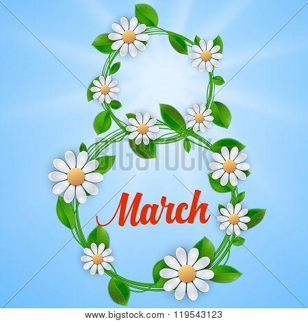 Womens day card design,