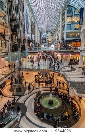 Interior view of Eaton Center.