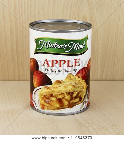 Can Of Mother's Maid Apple Filling