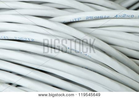 close up of network cables
