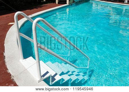 Grab Bars Ladder In Swimming Pool
