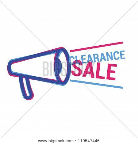 Vector Clearance Sale eye catching label