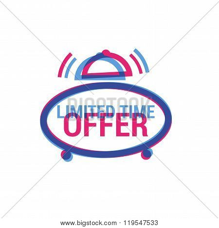 Vector Limited Time Offer eye catching label. Shopping