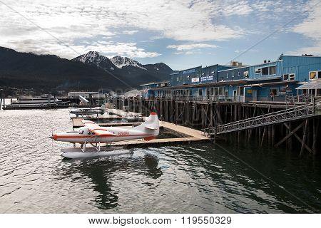 Seaplane at Juneu harbor