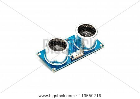 Ultrasonic Range Finder Isolated On White