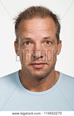 Portrait of mid adult Caucasian man
