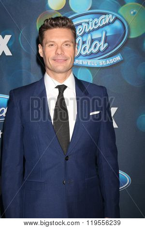 LOS ANGELES - FEB 25:  Ryan Seacrest at the American Idol Farewell Season Finalist Party at the London Hotel on February 25, 2016 in West Hollywood, CA