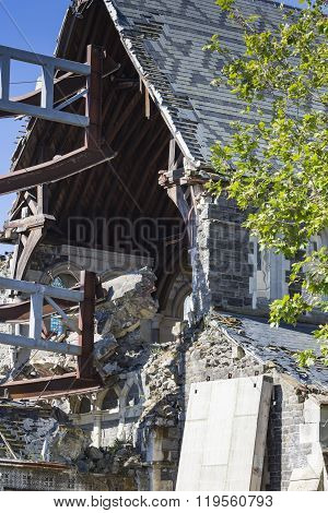 Christchurch, New Zealand, November 08 - The Iconic Anglican Cathedral Remains A Ruin In Christchurc