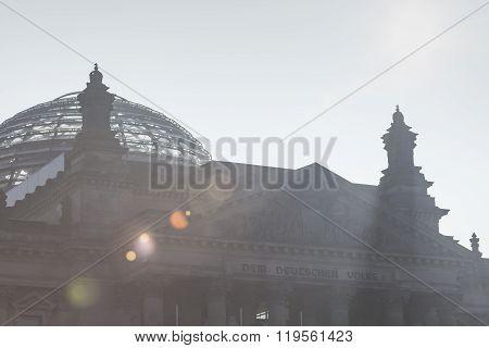 Berlin, Germany - April 11, 2014: Reichstag Building, Seat Of The German Parliament (deutscher Bunde