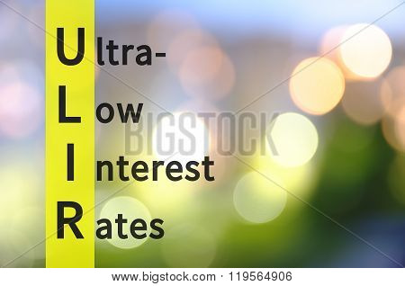 Ultra-low interest rates