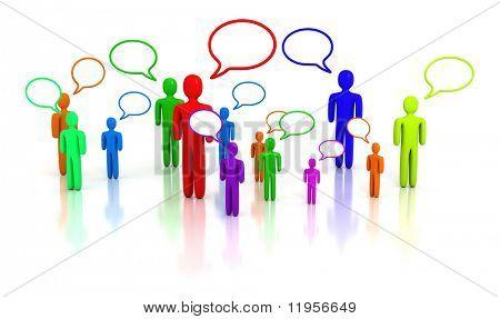 People talking