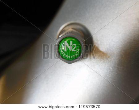 Nitrogen (N2) Valve Cap on TPMS Sensor