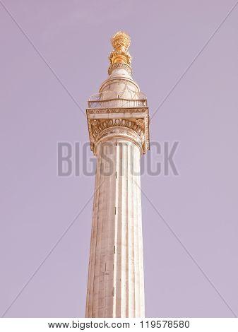 The Monument, London Vintage