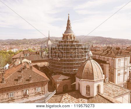 Retro Looking Holy Shroud Chapel In Turin