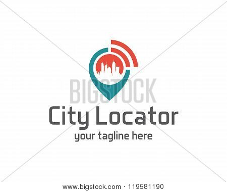 City locator design vector template. Pin map symbol vector . Gps icon design vector. Simple clean design Gps locator logo vector. poster