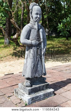 Old Statue In Imperial Minh Mang Tomb In  Hue