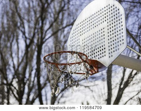 Basketball Hoop In The Park
