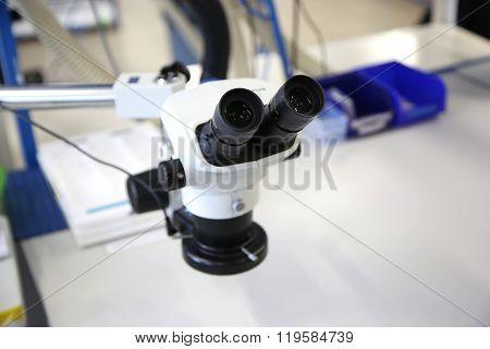 Microscope In The Cleanroom