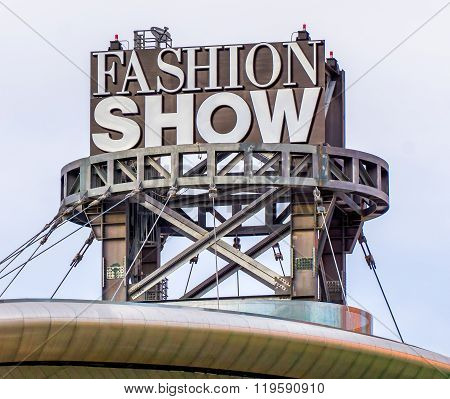 Fashion Show Mall Sign And Logo
