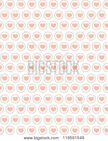 Cute vector repeating heart pattern and wall paper