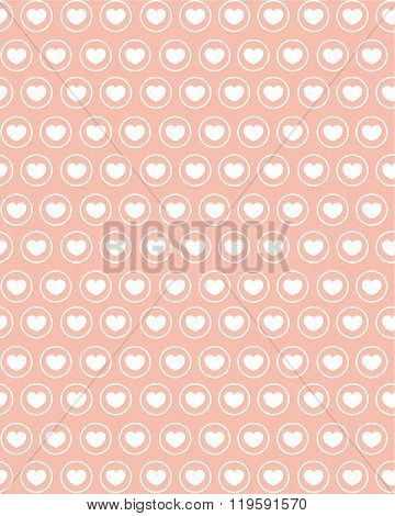 A cute vector repeating heart pattern and wall paper