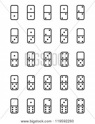 Vector Dominos Pieces