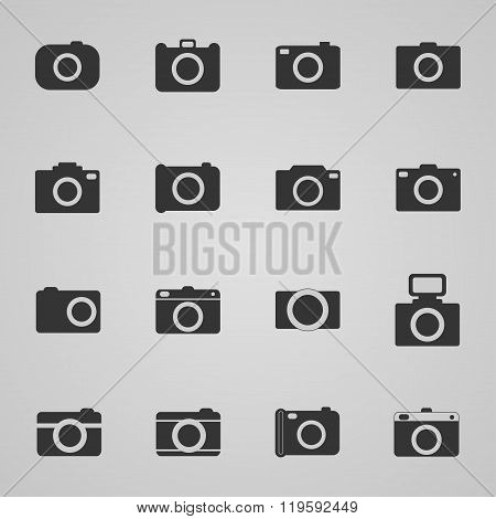 Set Of Photo Icons, Vector Illustration