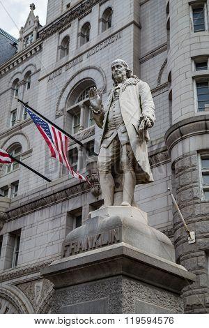 Benjamin Franklin Statue, Old Post Office Building, Washington,  Dc