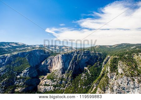 Glacier Point In Yosemite National Park, California, Usa