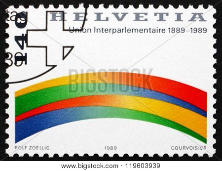 Postage Stamp Switzerland 1989 Interparliamentary Union
