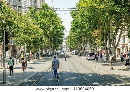 Cours Belsunce Main Boulevard In Marseille, France