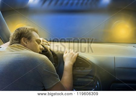 Sleeping Driver Before His Death