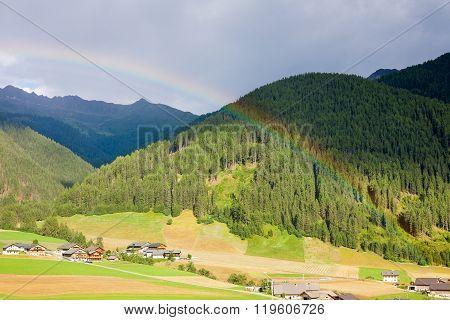 Rainbow In The Dolomites
