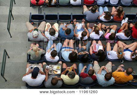 Crowd enjoying a game