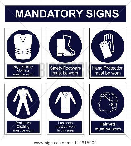 Mandatory Safety sign