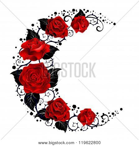 The Moon Of Red Roses
