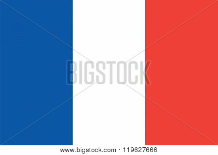 Standard Proportions and Color for Saint-Pierre and Miquelon Flag poster