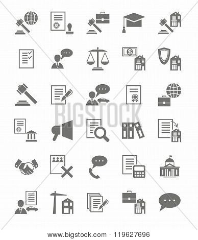 Legal Services Flat Icons.eps