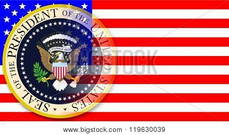 Presidential Seal On Flag