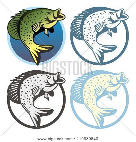 Vector Retro Fishing Logo Template