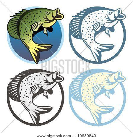 Vector Retro Fishing Logo Template